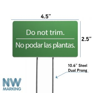 Do not trim Yard Sign
