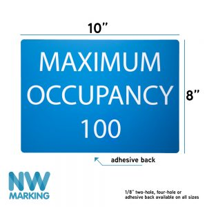 Max Occupancy Sign with custom number