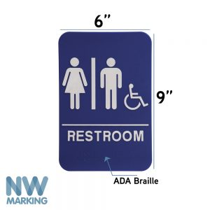 Restroom Signs  – Wheelchair Accessible