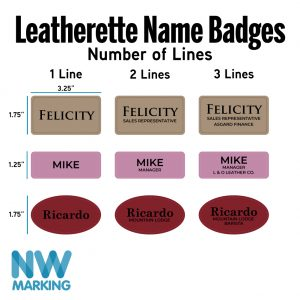 Leatherette Name Badges