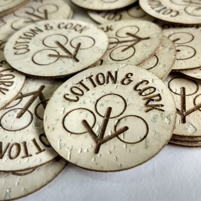 NW Marking custom cork labels Cotton & Cork