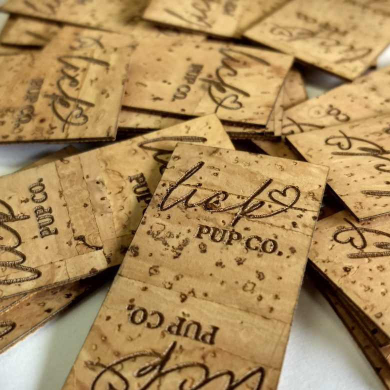 NW Marking custom cork labels Lick Pup Co