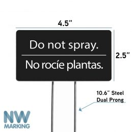 NW Marking Do Not Spray yard sign